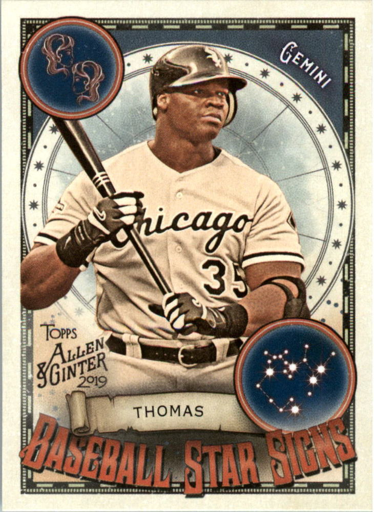 2019 Topps Allen and Ginter Baseball Star Signs #BSS7 Frank Thomas