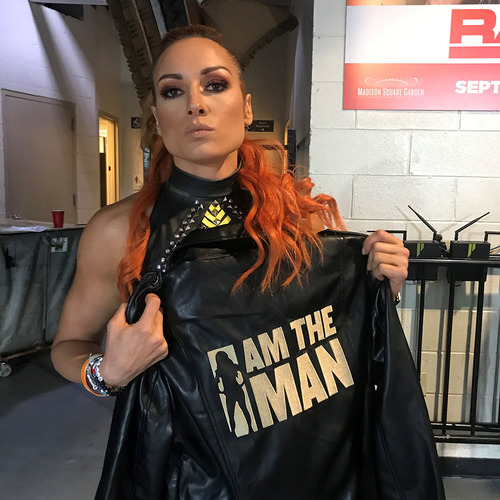 Becky Lynch SIGNED Custom Jacket (RAW (Connor's Cure) - 09/09/19)