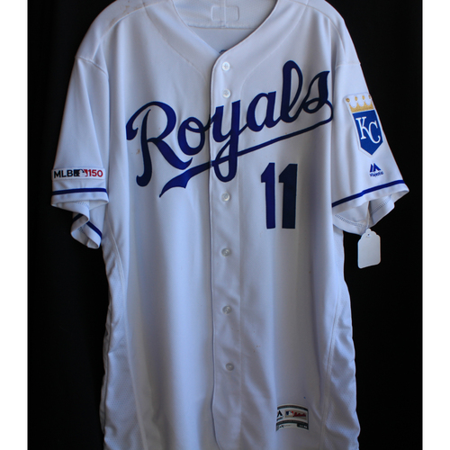 Photo of Game-Used Jersey: Bubba Starling 26th Career Hit (Size 48 - 8/27/19 - OAK @ KC)