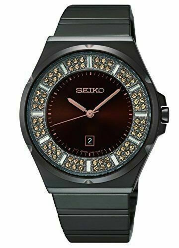 Photo of SEIKO Women's Brown Stainless Steel/with Brown and Crystal Dial Watch