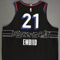 Joel Embiid - Philadelphia 76ers -  Game-Worn City Edition Jersey - 1st Half - Scored Game-High 33 Points - 2020-21 NBA Season