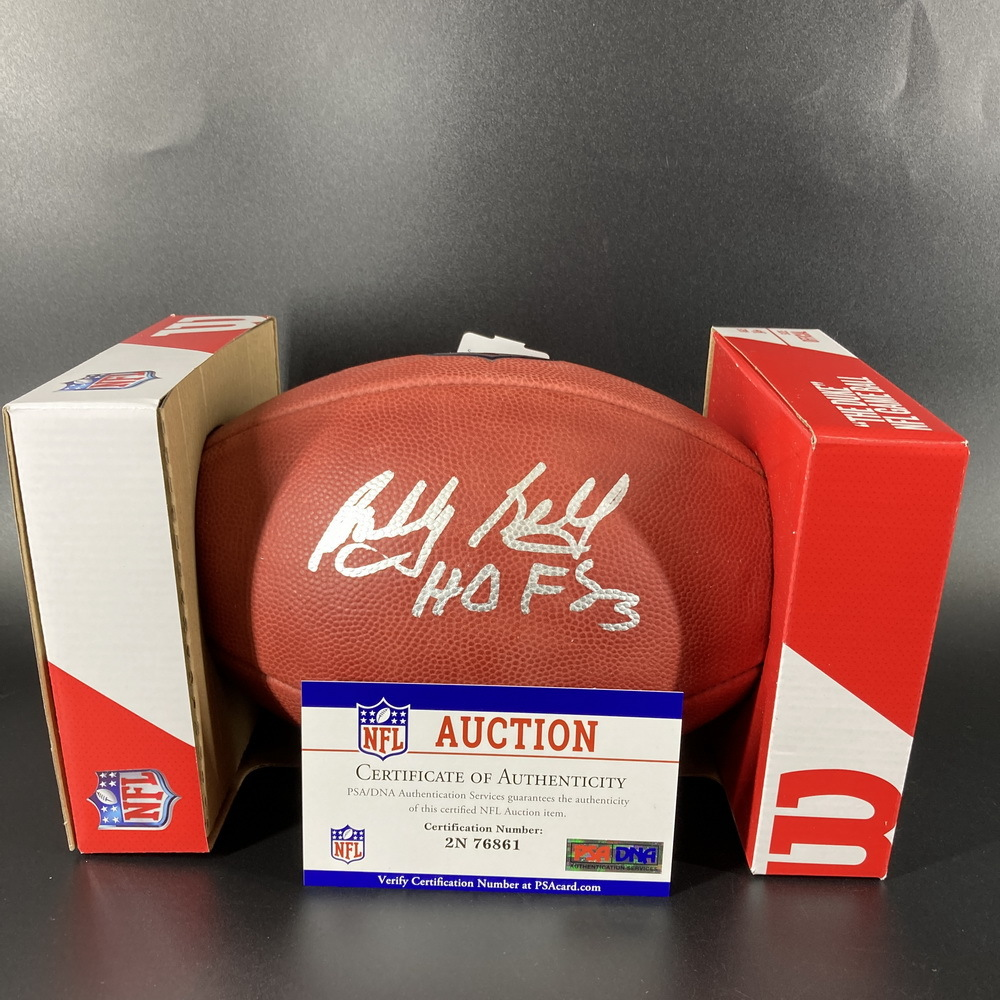 HOF - Chiefs Bobby Bell Signed Authentic Football with
