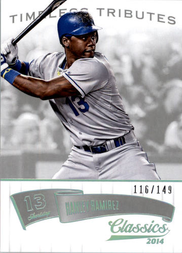 Photo of 2014 Classics Timeless Tributes Silver #60 Hanley Ramirez