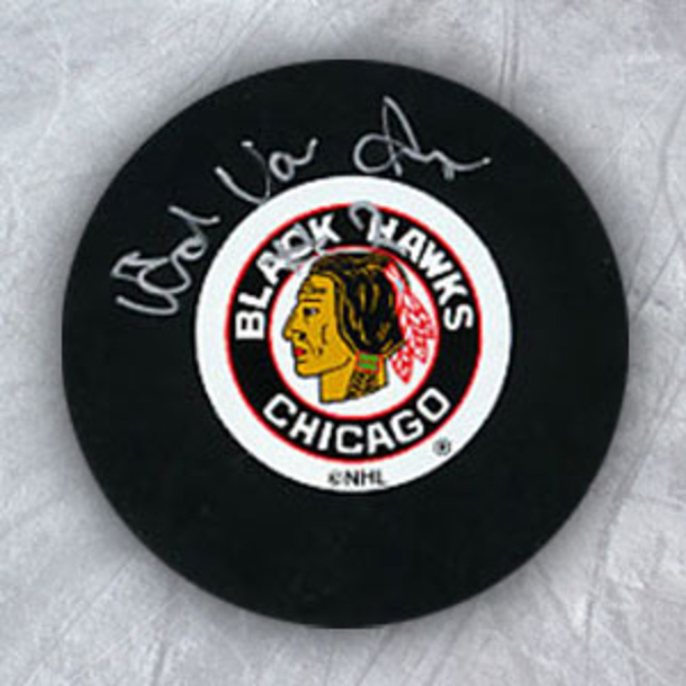 Ed Van Impe Chicago Blackhawks Autographed Hockey Puck