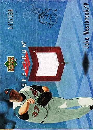 Photo of 2007 Upper Deck Spectrum Swatches #JW Jake Westbrook Jersey /199