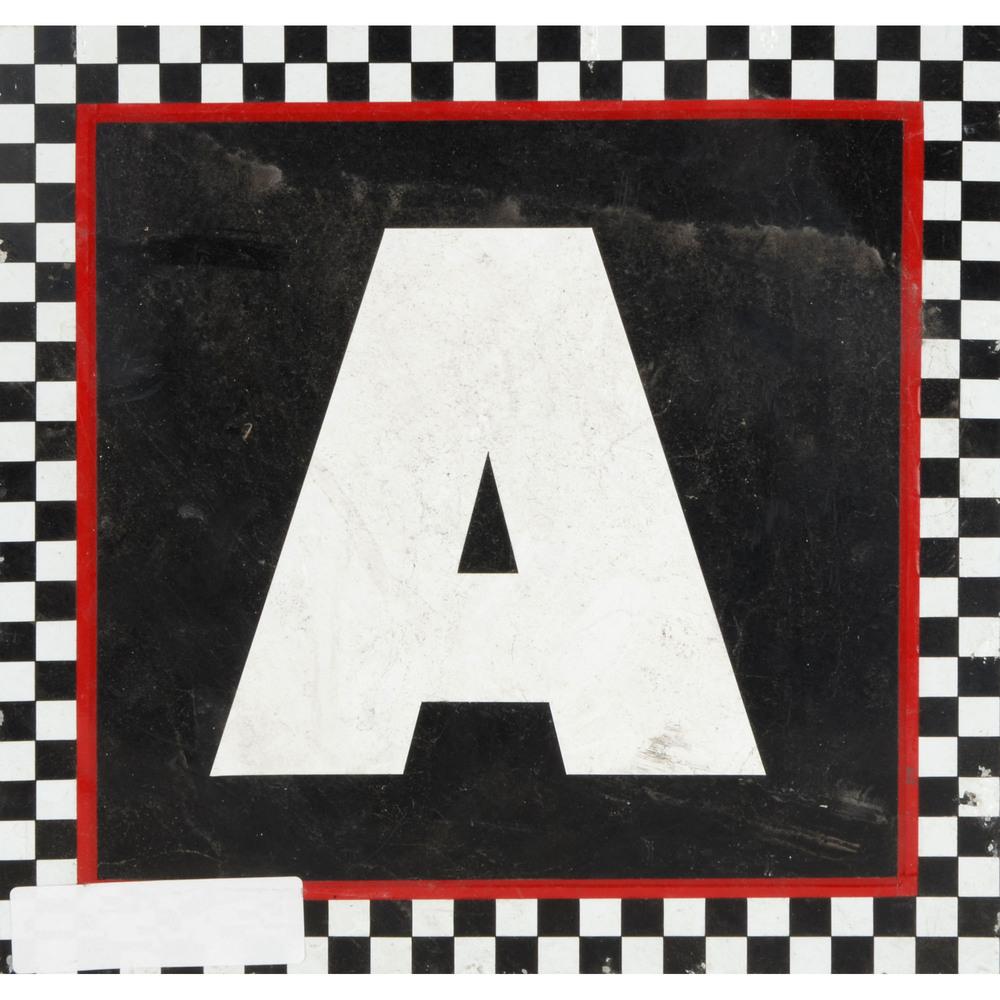 Daytona International Speedway Black with Checkerd Trim Letter A 12