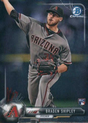 Photo of 2017 Bowman Chrome #59 Braden Shipley Rookie Card -- Diamondbacks post-season