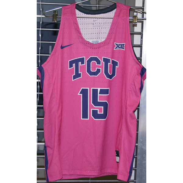 Photo of Women's Basketball Pink Game Worn Nike® Jersey #15 (L)