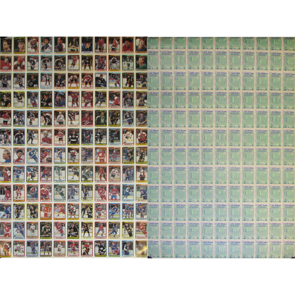 RARE - 1990-91 O-PEE-CHEE Complete Set Uncut Sheets (528 Cards!)