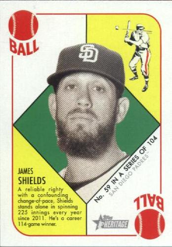 Photo of 2015 Topps Heritage '51 Collection #59 James Shields