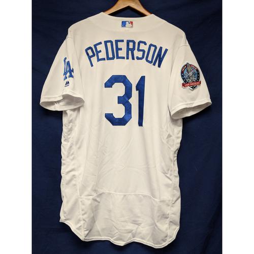 Photo of Kershaw's Challenge: Joc Pederson Game-Used Homerun Jersey - 4/21/18