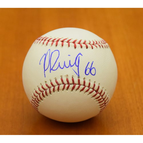 Photo of Yasiel Puig Los Angeles Dodgers Autographed Baseball (NOT MLB Authenticated)