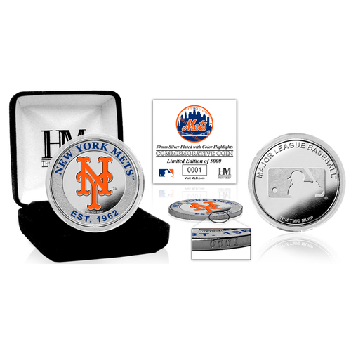 Photo of New York Mets Silver Color Coin
