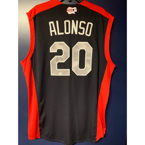 Photo of Pete Alonso 2019 Major League Baseball Workout Day Autographed Jersey