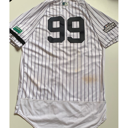 Photo of 2019 London Series - Game-Used Jersey - Aaron Judge, New York Yankees vs Boston Red Sox - 6/30/19