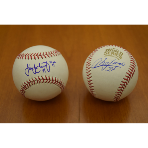 Photo of Jake Arrieta and Aroldis Chapman Chicago Cubs 2016 World Series Autographed Baseball Collection (NOT MLB Authenticated)