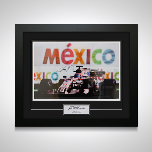 Photo of Sergio Perez 2017 Mexico GP Signed Photo - SportPesa Racing Point