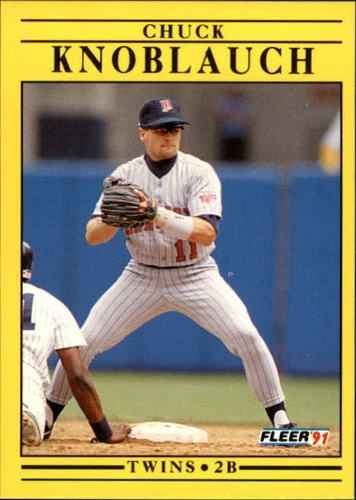 Photo of 1991 Fleer Update #37 Chuck Knoblauch