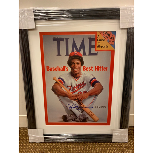 Photo of Rod Carew Autographed Time Magazine Print
