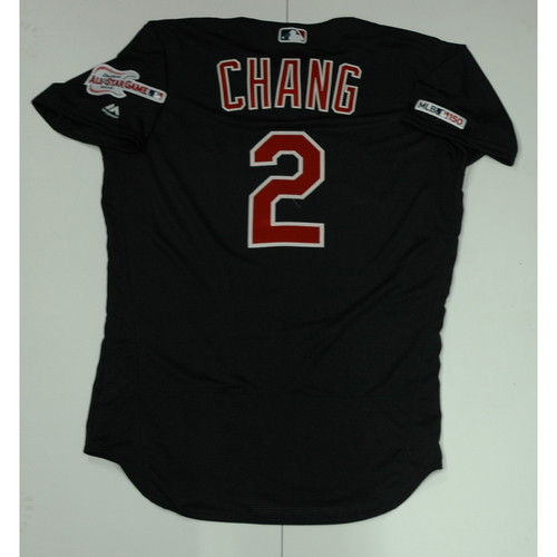 Yu Chang Team Issued 2019 Navy Road Alternate Jersey