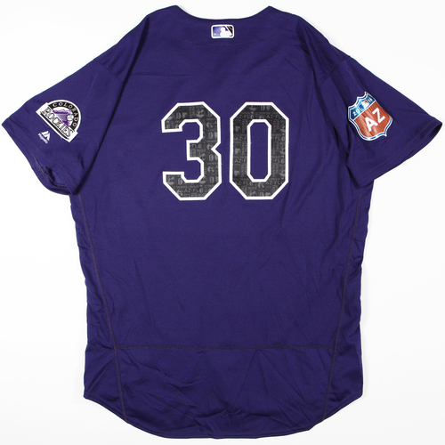 Photo of 2016 Spring Training - Spring Training Game Used Jersey - Jason Motte (Rockies)- Size- 50