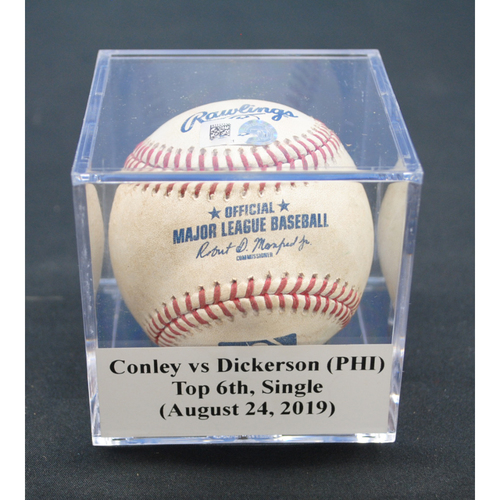 Photo of Game-Used Baseball: Adam Conley vs Corey Dickerson (PHI), Top 6th, Single - August 24, 2019