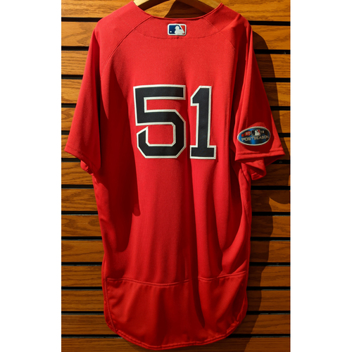 Photo of 2018 Postseason Coach Tim Hyers #51 Team Issued Red Home Alternate Jersey