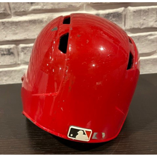 Photo of Alex Blandino -- Game-Used Helmet -- First MLB Hit on April 18 2018 -- Left Ear Flap -- Size 7 1/2