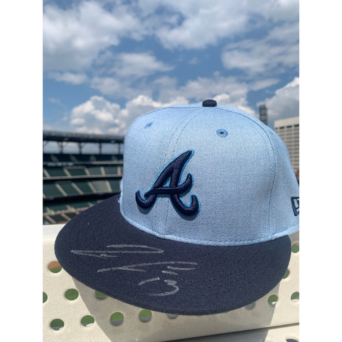 Photo of Ronald Acuna Jr. MLB Authenticated Autographed Father's Day Hat