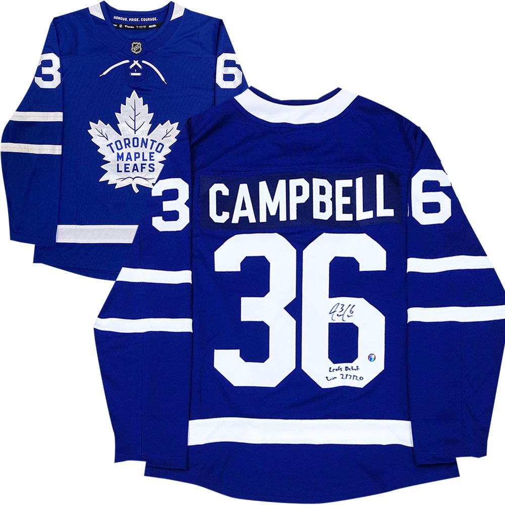 Jack Campbell Autographed Toronto Maple Leafs Fanatics Jersey w/LEAFS DEBUT WIN 2/7/20 Inscription