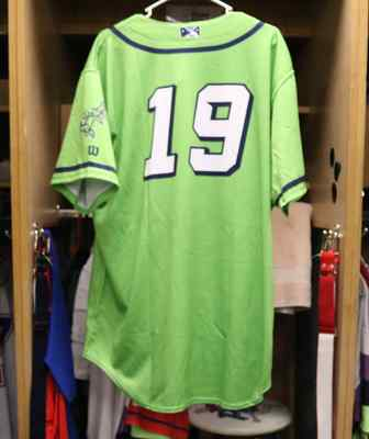 Stockton Ports Oscar Tovar Asparagus jersey, #19, Size 48