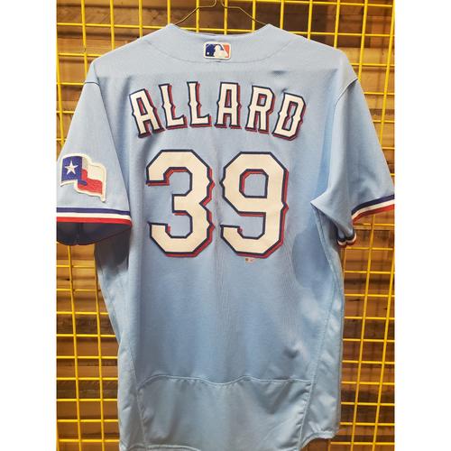Photo of Kolby Allard Team-Issued Baby Blue Jersey