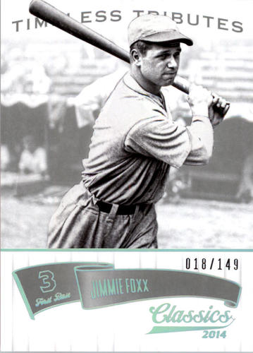 Photo of 2014 Classics Timeless Tributes Silver #69 Jimmie Foxx