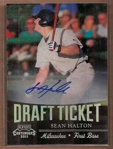 Photo of 2011 Playoff Contenders Draft Ticket Autographs #DT16 Sean Halton