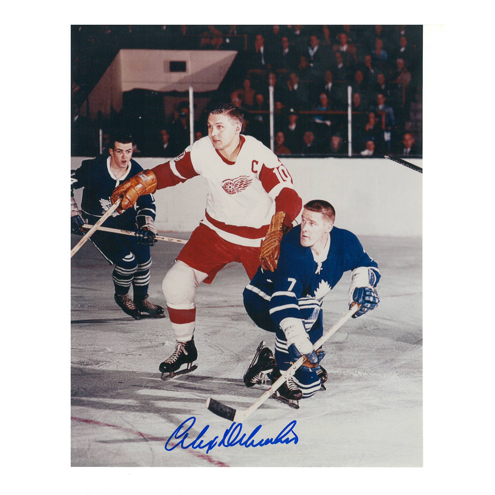 ALEX DELVECCHIO Signed Detroit Red Wings 8 X 10 Photo - 70046