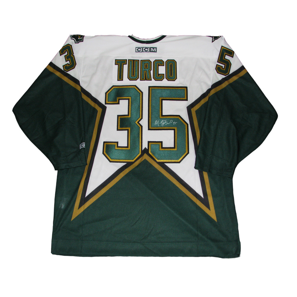 MARTY TURCO Signed Dallas Stars White CCM Jersey