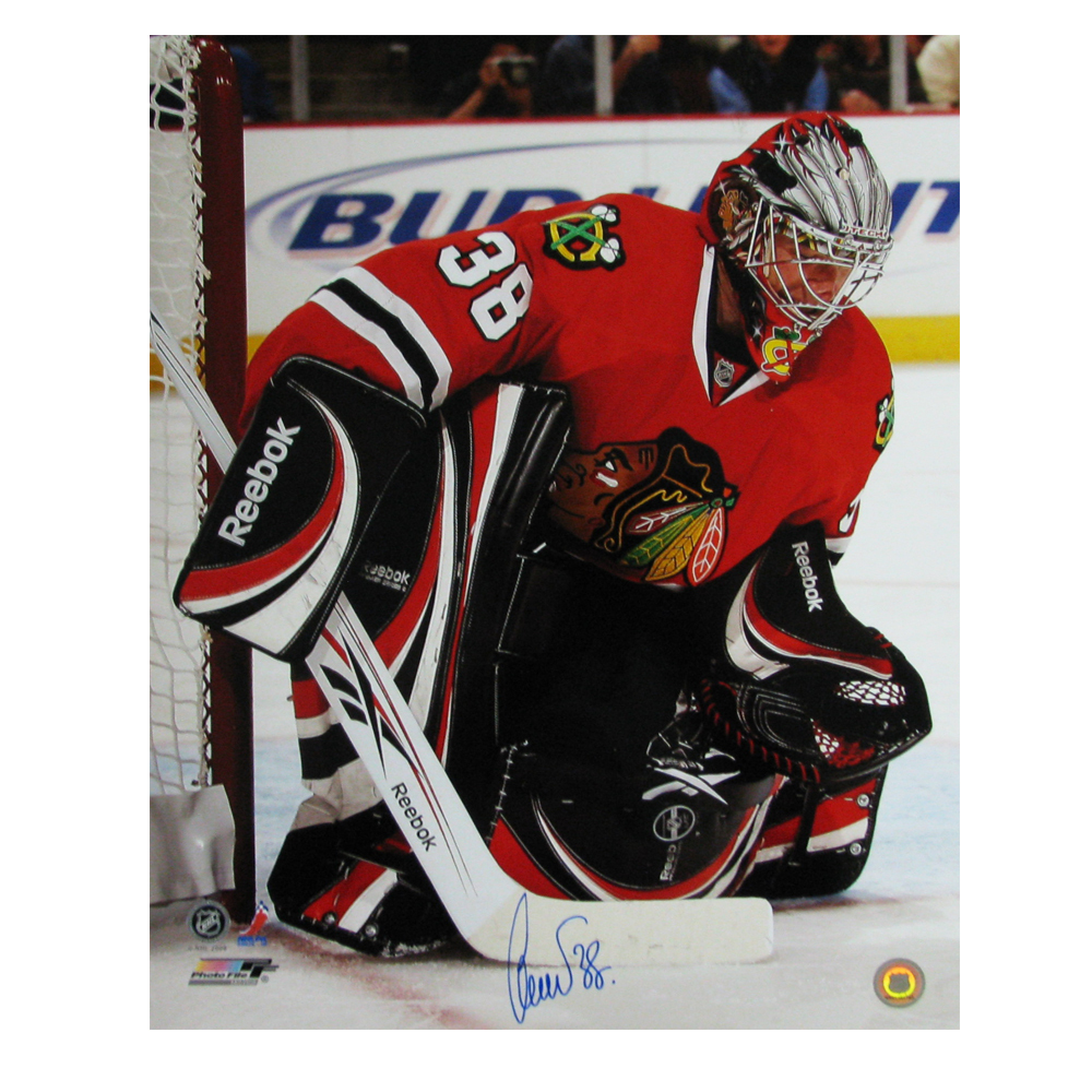CRISTOBAL HUET Signed Chicago Blackhawks 16x20 Photo - 79036
