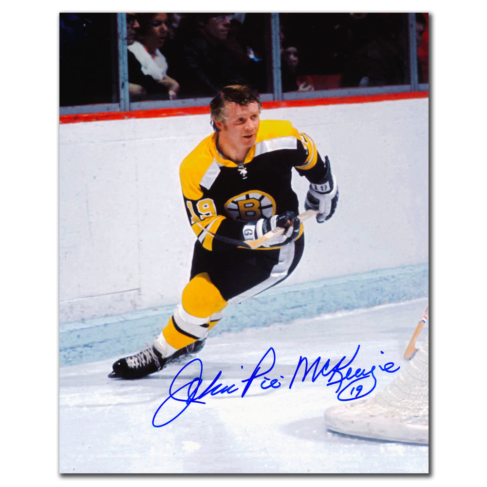 John Pie McKenzie Boston Bruins Autographed 8x10