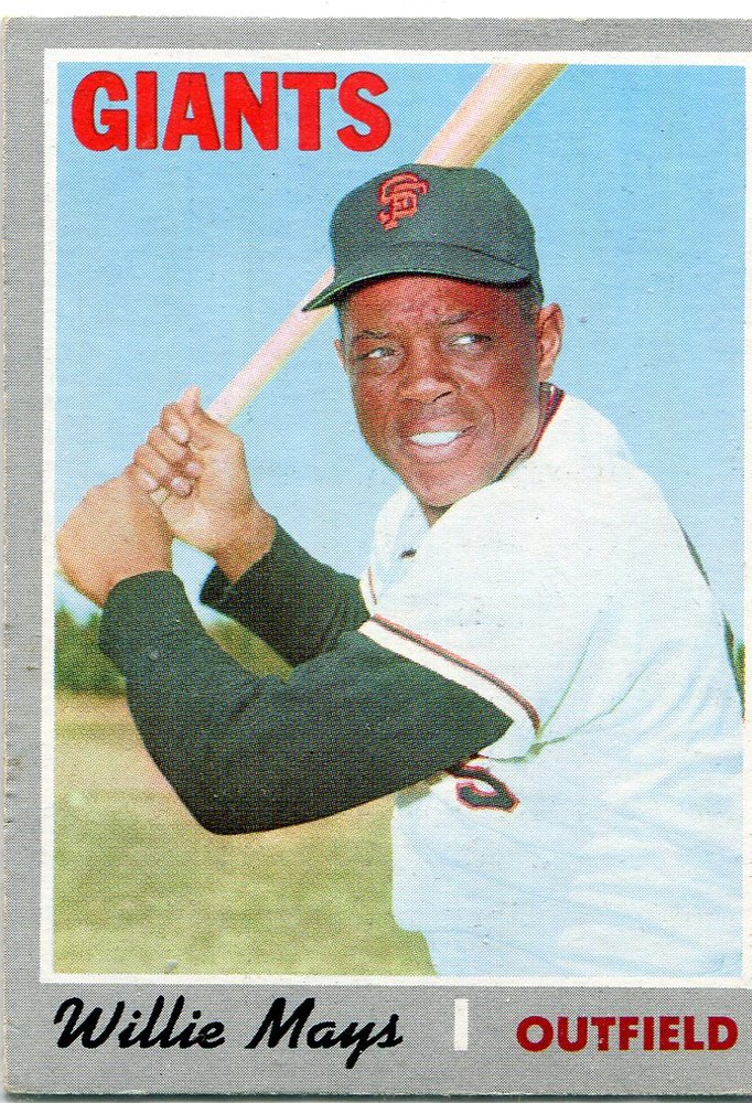 1970 Topps #600 Willie Mays -- Hall of Famer