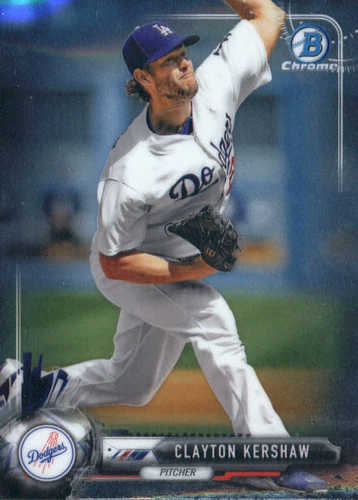 Photo of 2017 Bowman Chrome #93 Clayton Kershaw -- Dodgers post-season