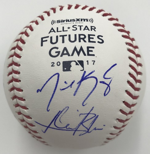Photo of 2017 Futures Participants Dual Signed 2017 Futures Game Logo Baseball Option #2