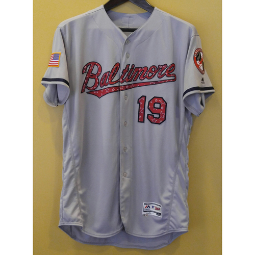 Photo of Chris Davis - 4th of July Jersey: Team-Issued