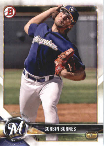 Photo of 2018 Bowman Prospects #BP132 Corbin Burnes