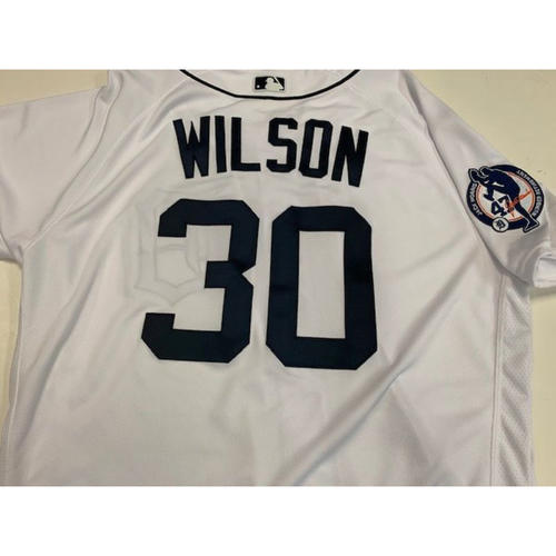 Photo of Game-Used Jack Morris Number Retirement Day Jersey: Alex Wilson