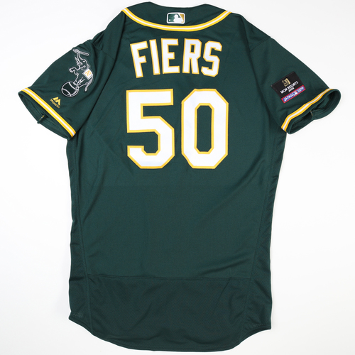 Photo of 2019 Japan Opening Day Series - Game Used Jersey - Mike Fiers, Oakland Athletics at Nippon Ham Fighters -3/17/2019