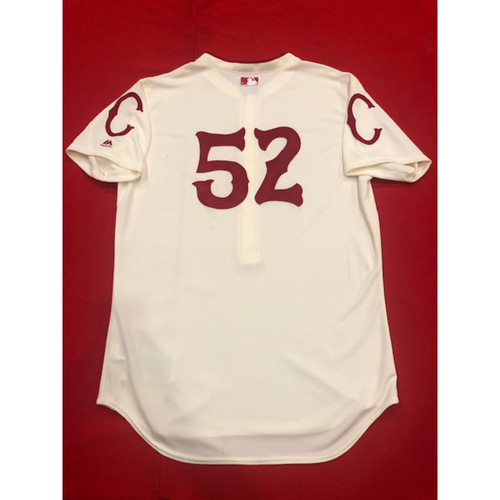 Kyle Farmer -- Game-Used Jersey & Pants -- 1912 Throwback Game (Defensive Substitution: Went 1-for-1, R) -- Dodgers vs. Reds on May 19, 2019