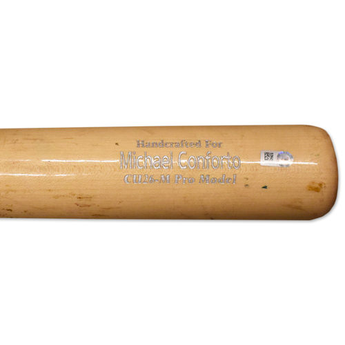 Photo of Michael Conforto #30 - Game Used Cracked Bat - Mets vs. Brewers - 5/3/2019