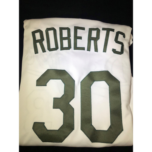 Photo of Dave Roberts Authentic Team-Issued 2018 Memorial Day Los Angeles Dodgers Jersey