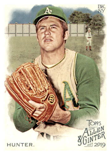 Photo of 2019 Topps Allen and Ginter #287 Catfish Hunter