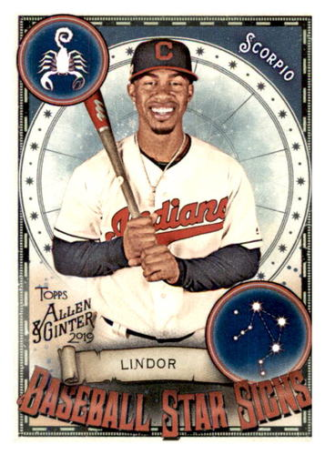 Photo of 2019 Topps Allen and Ginter Baseball Star Signs #BSS8 Francisco Lindor